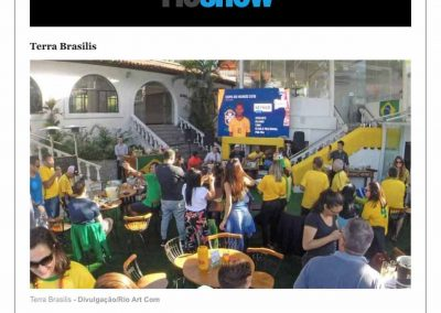 Clipping Terra Brasilis_21-06-2018_O Globo on line_Editoria Rio Show_Copa do Mundo